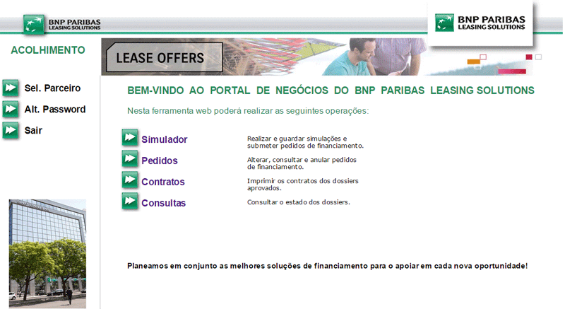 BNP Paribas Leasing Solutions Menu